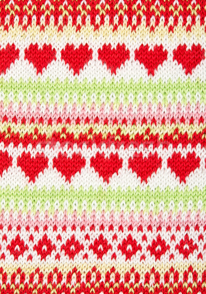 knitted background with a pattern in the shape of heart Stock photo © RuslanOmega