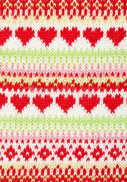 Maglia pattern cuore design sfondo Foto d'archivio © RuslanOmega