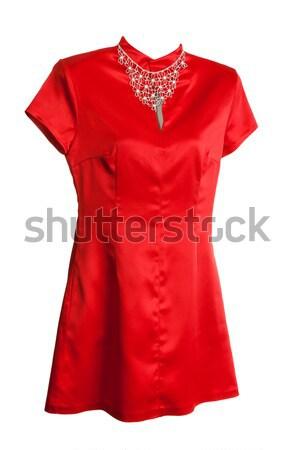 красный блузка девушки женщины Sexy женщины Сток-фото © RuslanOmega