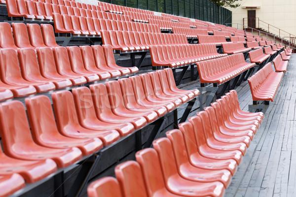 Brilhante marrom estádio assento curva passos Foto stock © RuslanOmega
