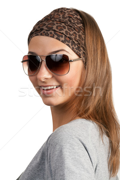 portrait of a girl with glasses Stock photo © RuslanOmega