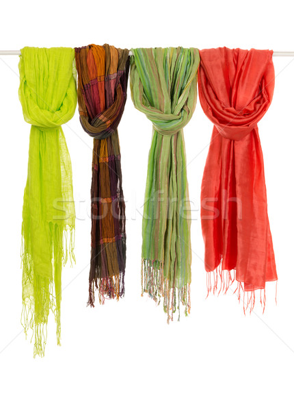 Silk colored scarves on a hanger Stock photo © RuslanOmega