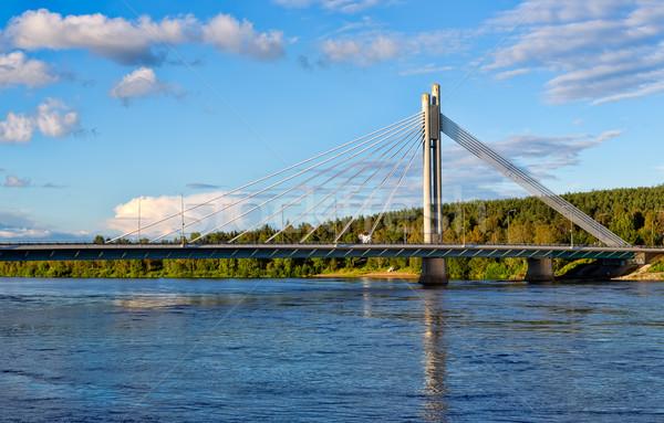 Bridge in Rovaniemi Stock photo © RuslanOmega