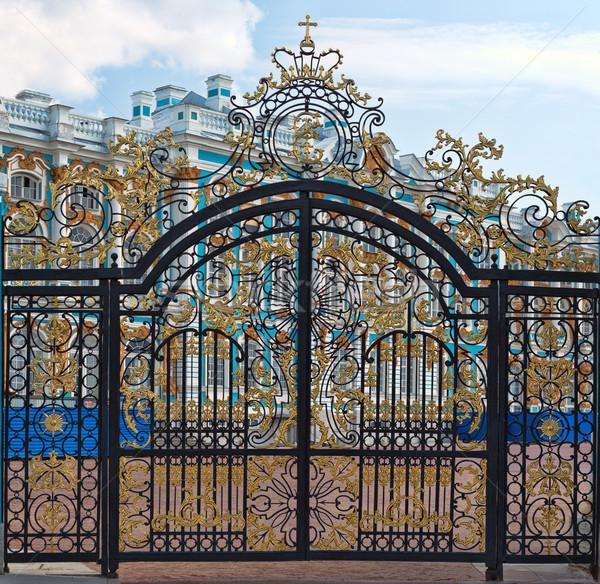 Oro puerta entrada palacio edificio verano Foto stock © RuslanOmega