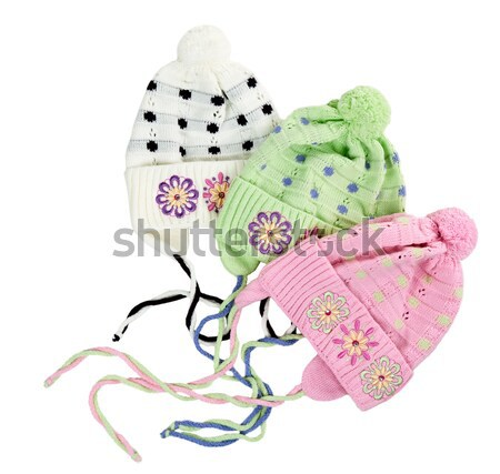 green baby knitted hat with a flower pattern Stock photo © RuslanOmega