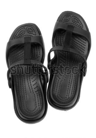 Par preto sapatos homens branco Foto stock © RuslanOmega