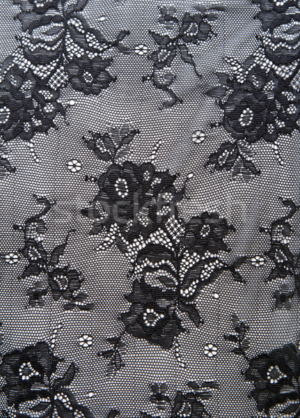 Black lace with pattern from flower Stock photo © RuslanOmega