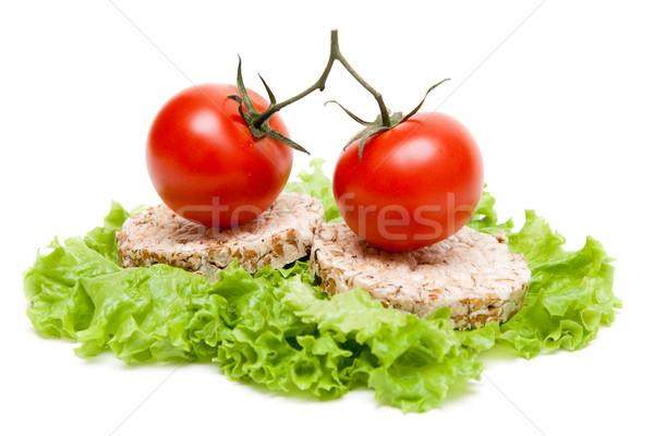 Dois maduro tomates pequeno pão pão Foto stock © RuslanOmega