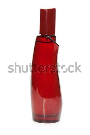 Vermelho perfume garrafa isolado branco luz Foto stock © RuslanOmega