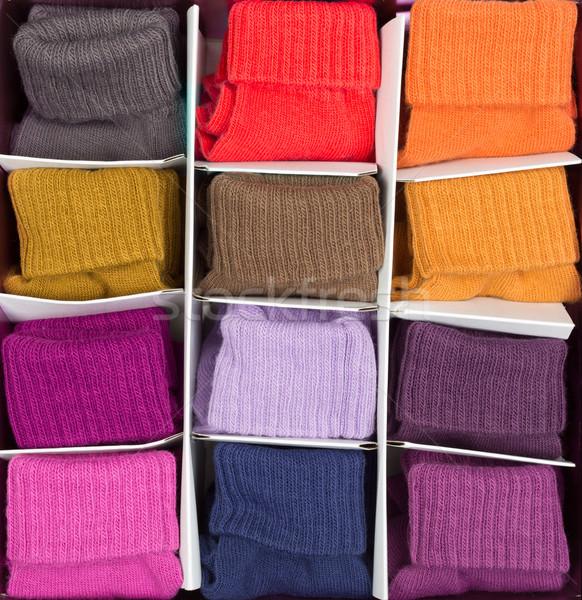 box of colored clothing Stock photo © RuslanOmega