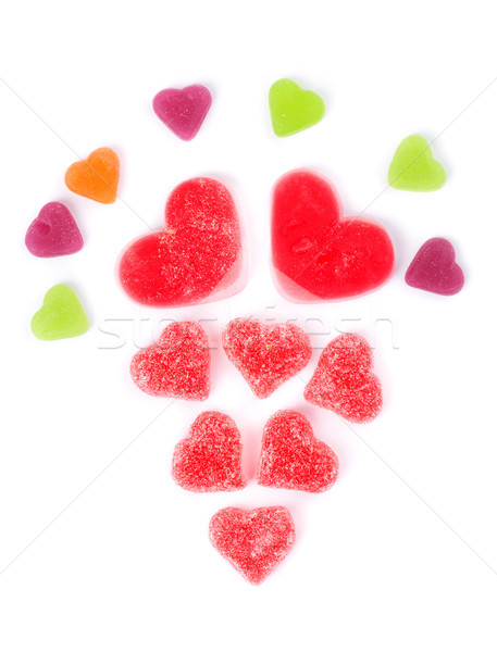 chewy colored candies in heart shape Stock photo © RuslanOmega
