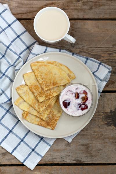 Piatto jam Cup latte Foto d'archivio © RuslanOmega