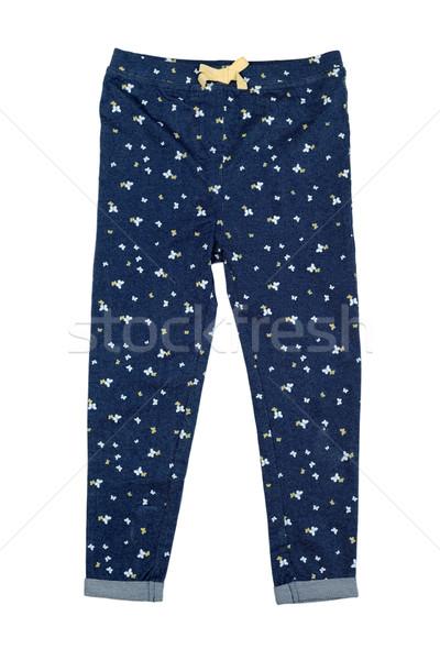 джинсовой брюки шаблон белый фон Сток-фото © RuslanOmega