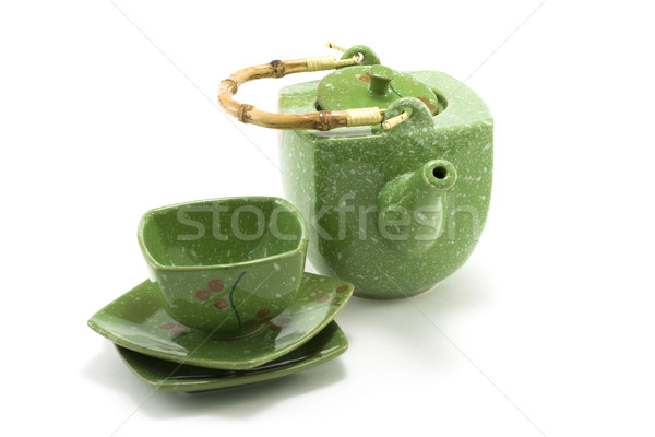 Chinese teapot and cup 3 Stock photo © RuslanOmega