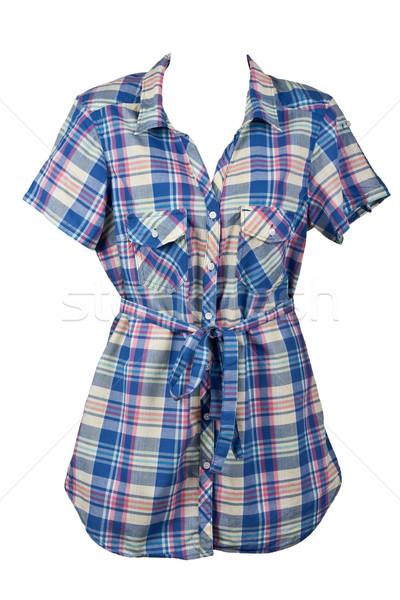 Women's plaid shirt Stock photo © RuslanOmega