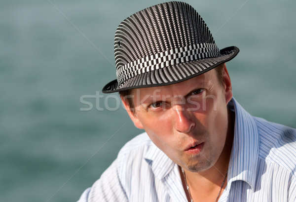 portrait of a man in a hat amazed Stock photo © RuslanOmega