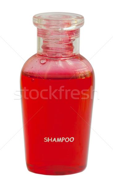 Küçük kırmızı şişe şampuan yalıtılmış beyaz Stok fotoğraf © RuslanOmega