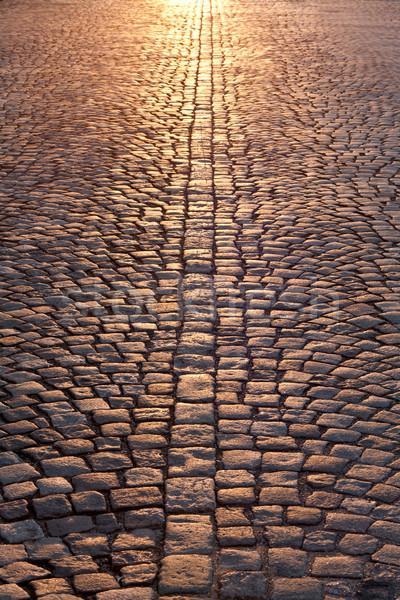 stone pavement in evening sunlight Stock photo © RuslanOmega