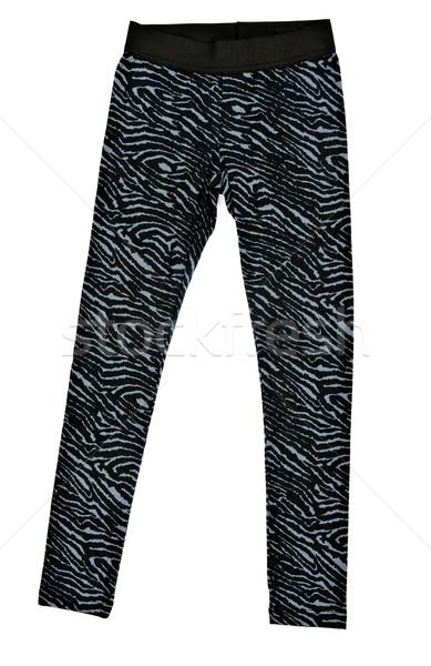Foto d'archivio: Nero · stretto · leggings · bianco · tessuto · studio
