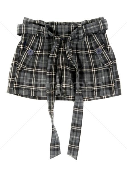 グレー スカート 孤立した 白 女性 ストックフォト © RuslanOmega