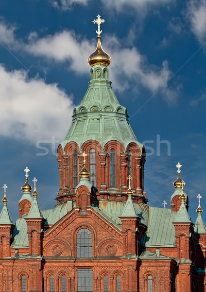 Catedral Helsinki ruso ortodoxo rojo ladrillo Foto stock © RuslanOmega