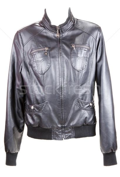 Black leather jacket Stock photo © RuslanOmega