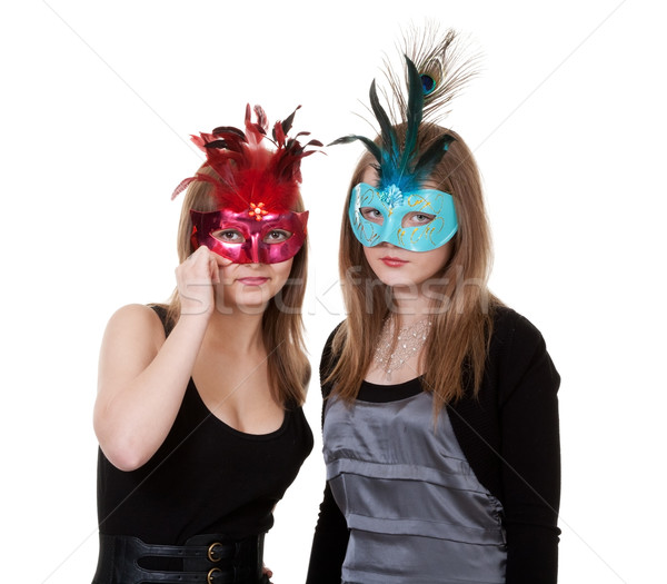 two girl in the masquerade mask Stock photo © RuslanOmega