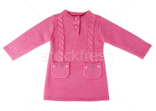 Red knit dress Stock photo © RuslanOmega