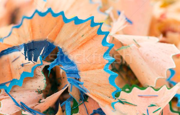 blue and green pencil shaving Stock photo © RuslanOmega