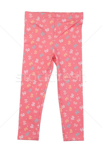 Katoen roze pants home witte Stockfoto © RuslanOmega