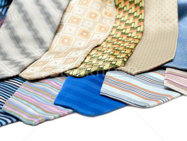 Male ties over white background Stock photo © RuslanOmega