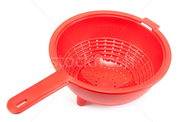 Rood briljant plastic voedsel witte schone Stockfoto © RuslanOmega