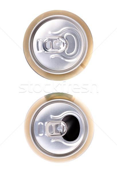 Kettő sör konzerv fehér felső kilátás Stock fotó © RuslanOmega
