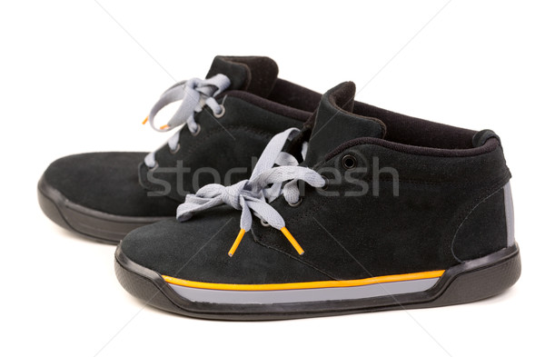 Preto sapatos isolado branco moda Foto stock © RuslanOmega