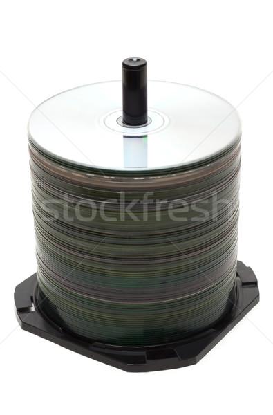 Pile CD disk on spindel Stock photo © RuslanOmega