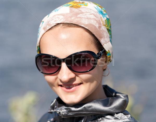 portrait of beautiful girl in the bandana and sunglasses Stock photo © RuslanOmega
