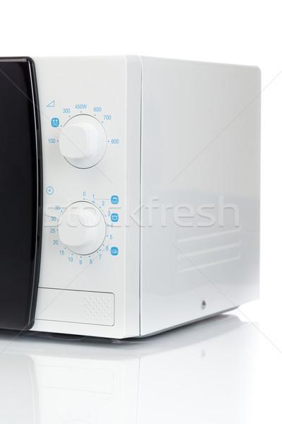 микроволновая печь аналоговый контроль белый Сток-фото © RuslanOmega