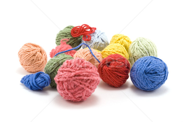 Ball of the colour threads 5 Stock photo © RuslanOmega