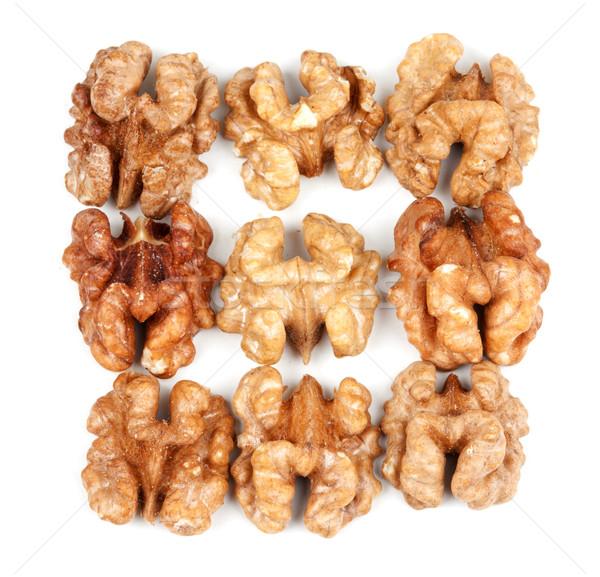 nine walnut halves Stock photo © RuslanOmega