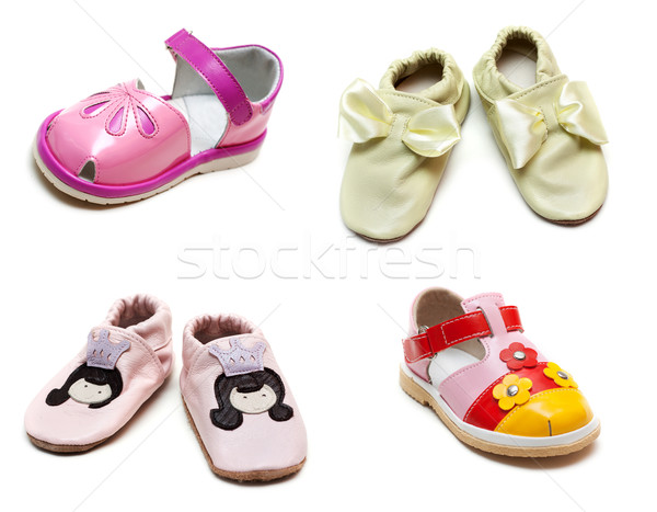 Collage from baby sandals Stock photo © RuslanOmega