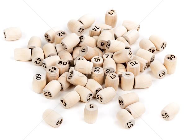 Ahşap sayılar beyaz ahşap grup Stok fotoğraf © RuslanOmega
