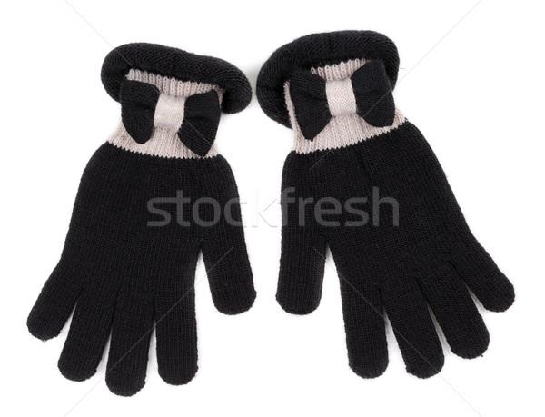 Black Gloves on White Background Stock photo © RuslanOmega