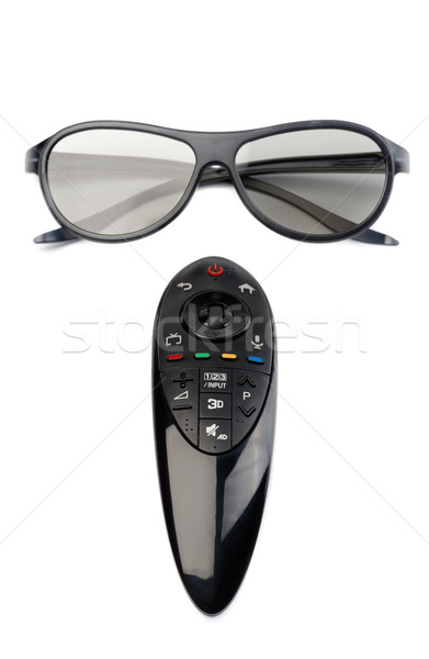 3d glasses and remote control TV. Stock photo © RuslanOmega