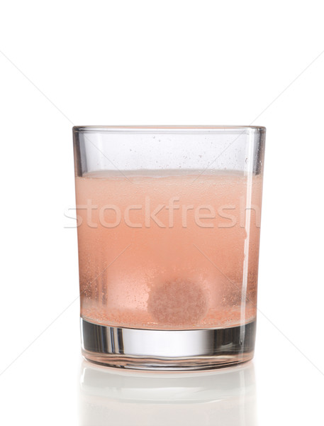 Orange Tablet and glass with water Stock photo © RuslanOmega