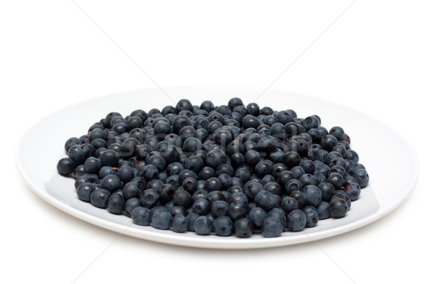 Stock photo: Plate with whortleberry