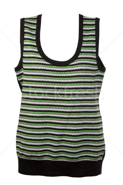 warm waistcoat with green stripes Stock photo © RuslanOmega