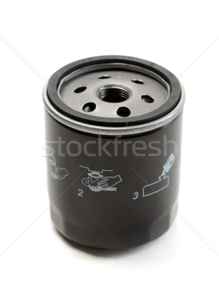 Black car oil filter. Stock photo © RuslanOmega