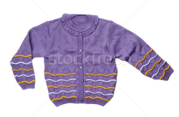 Roxo suéter tricotado quente violeta Foto stock © RuslanOmega