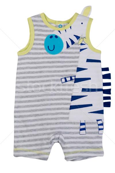 Listrado crianças imprimir girafa branco Foto stock © RuslanOmega
