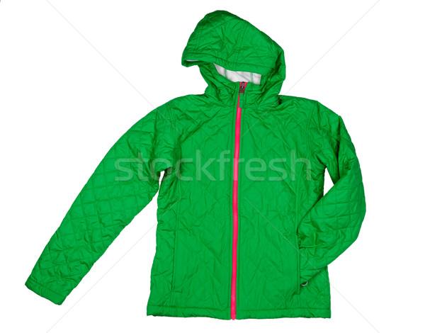 Green quilted jacket Stock photo © RuslanOmega